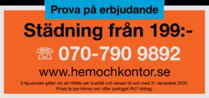 Prova på hemstädning i Växjö.