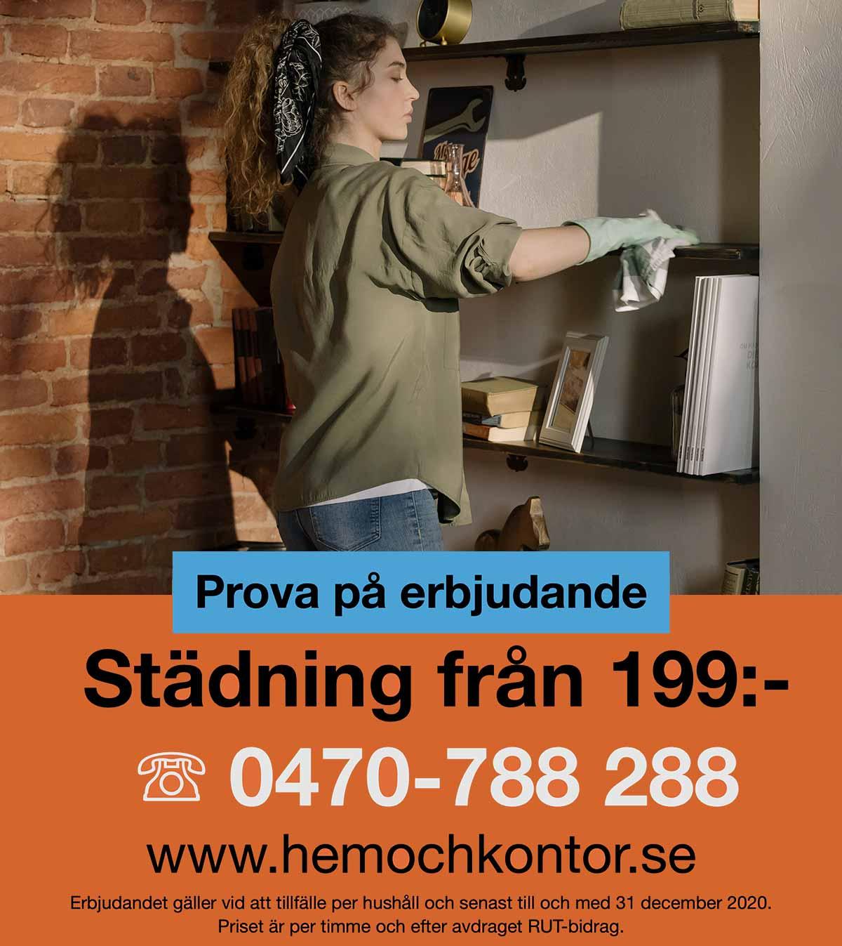 Erbjudande - prova på städning i Växjö.