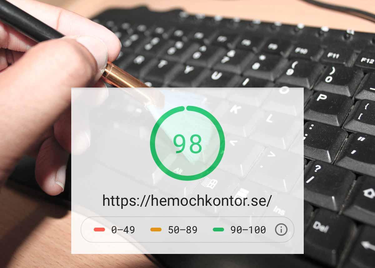 hemochkontor.se - Vår webbplats får högsta poäng.