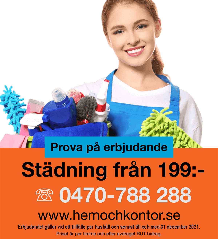 Erbjudande – prova på städning i ditt hem, villa eller lägenhet.